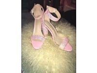 Truffle Collection Sparkly Pink Glitter Heels Size 8