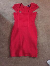 House of cb celeb boutique red bandage dress size l large
