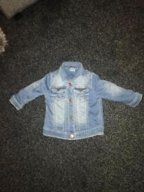 F and f denim jacket size 6-9 months