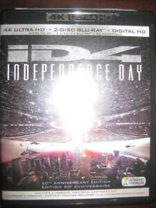 ID4 Independence Day: 4K. Ultra HD Blu Ray DVD. Science Fiction Movie / Film. Roland Emmerich. Liam Hemsworth. Jeff Gold