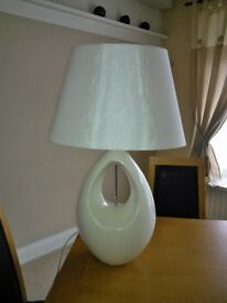 Table Lamps (Two) White By Pagassi, (Boundry Mill).