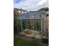 8ft x 6ft Glass Greenhouse
