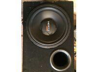 Hertz car sub speaker and amplifier