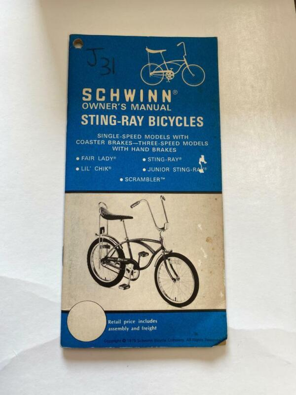 1975 Schwinn Bicycles STING-RAY Bicycle OWNERS MANUAL