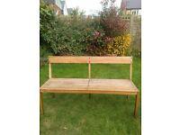 Habitat teak garden bench - £35