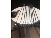 full set yonex super Sdc carbon irons Ben Ross driver rescue club putter and stand bag
