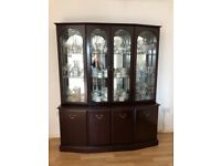 Display cabinet and sideboard