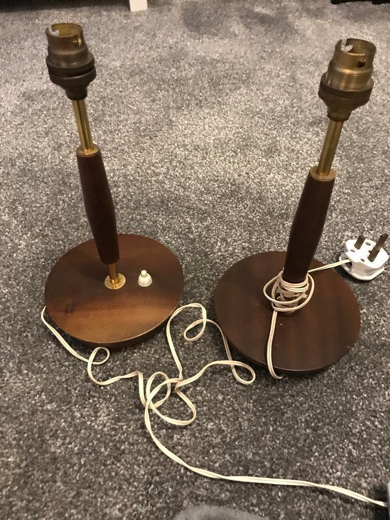 Vintage / retro pair of lamp bases