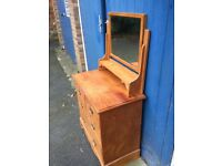 Antique Pine chest of Drawers with mirror