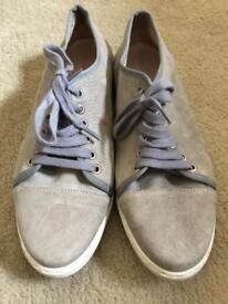 Mint Velvet Grey Suede Trainers UK Size 7