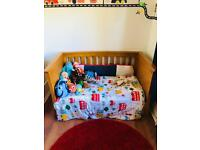 Mamas and papas cot bed and chest of drawers