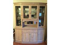 Display Cabinet Limed Oak Style