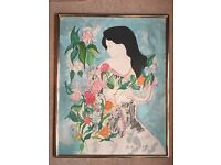 'Monique' - beautiful limited edition lithograph by French artist Linda Le Kinff