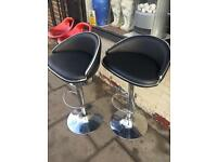 Pair of black bar stools