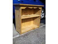 Pine wall unit or bookcase.