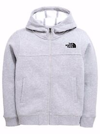 North Face Grey Tracksuit SET ( Hoodie (LARGE) and Track-bottoms (LARGE) )