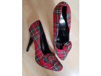 Red Tartan heels