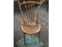 Beautiful Fischel Bentwood Decorative Carved Hall Occasional Chair