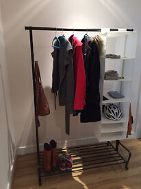 IKEA Portis clothes rack, only 1yr old!