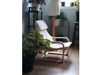 "Ikea Children Chair Armchair Classic ""Poang"" Cream Canvas"