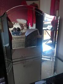 Large glass dressing table mirror
