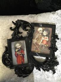Black gothic style photo frame