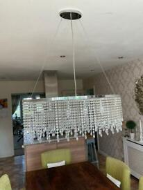 Mark's and spencer glass Crystal chandelier