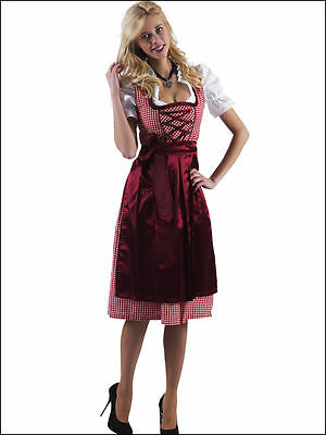 Bavarian,German,Trachten,Festival,Oktoberfest,Dirndl Dress,3-pc.Sz.22,Reds/Wine