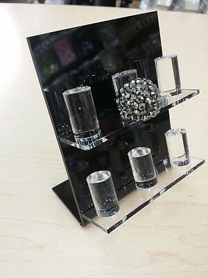 Acrylic 6 Finger Ring Display Stand New