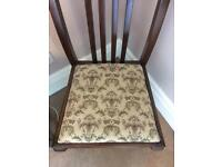 Queen Anne dinning chairs x 4
