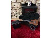 Tanglewood ukulele . Hard case. With amp + lead.