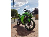 Kawasaki Ninja 300 2014 Motorcycle (Motorbike) A2 - good condition with extras