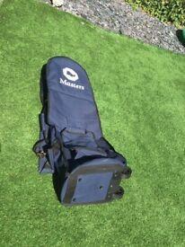 Golf Travel Bag on Wheels Masters Navy Blue