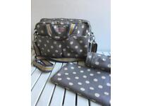 EXCELLENT CONDITION! - Cath Kidston grey polka dot changing bag
