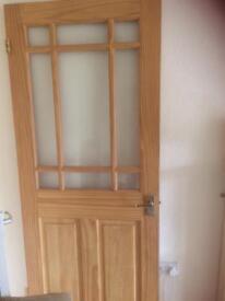 Pine Glass Panelled Door