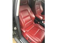 Audi A3 s3 rs3 8p rare red leather seats electric with arm rest and door cards