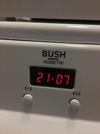 Bush 60cm Gas COOKER AG66TW Exc condition