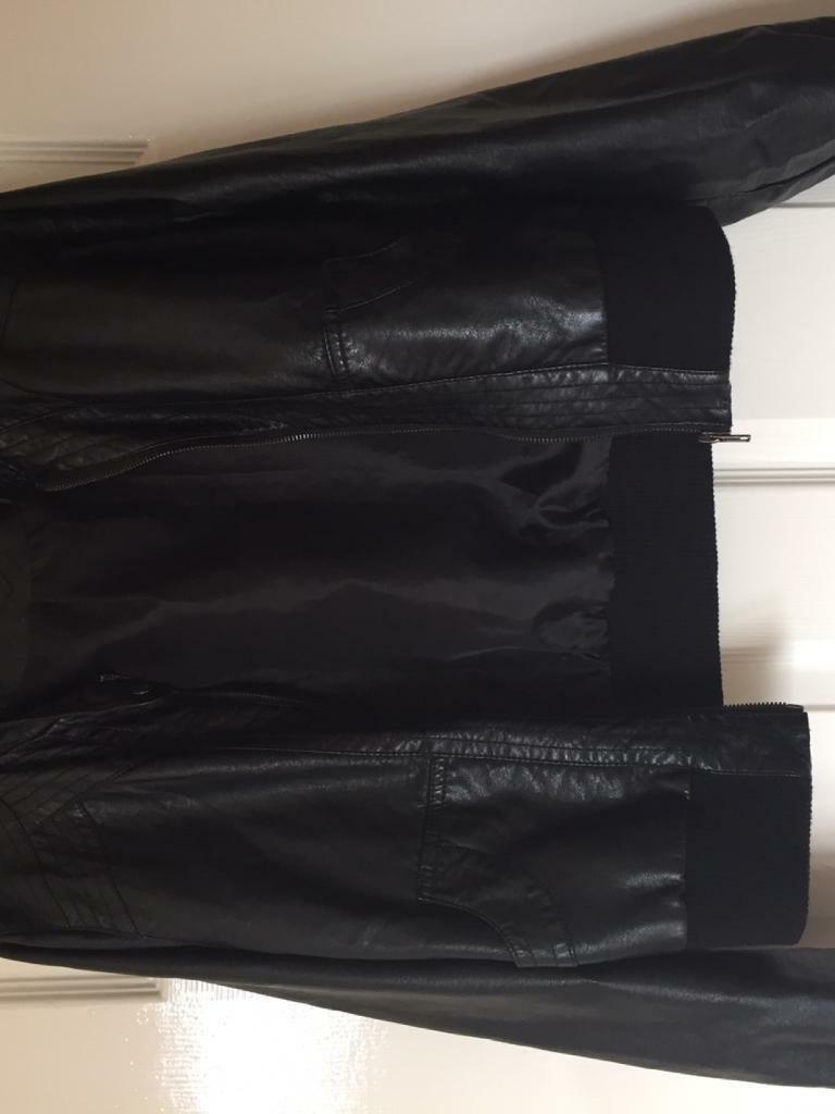 Leather jacket new look - Size 16 Faux Leather Jacket New Look