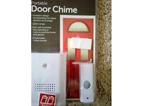 Wire free portable door chime