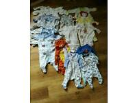 0 to 3 months babygrows sleep suits