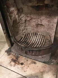 Cast iron fire tray