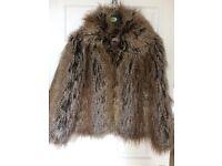 Faux Fur Jacket size 12
