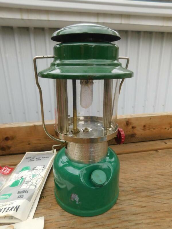 COLEMAN LANTERN LAMP SPORTLITE 335 VINTAGE MADE CANADA EXTRA MANTLE INSTRUCTIONS