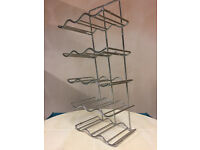 Wine rack in chrome for 30cm kitchen cupboard (as new), holds 15 bottles - £5