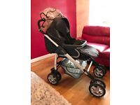 Silver Cross Pram with Cosy Toes and Rain Cover