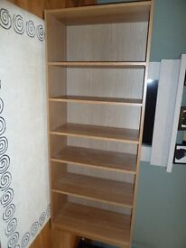 Ikea Billy bookcase book shelf oak veneer - Immaculate