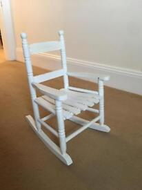 Lovely white children's rocking chair