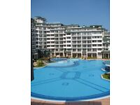 Spacious one bed sea view apartment in 5 star Bulgaria Spa resort - large pools, close to beach