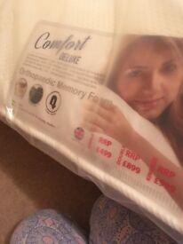 New 5ft orthopaedic memory foam mattress