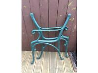 Cast iron chair bench ends